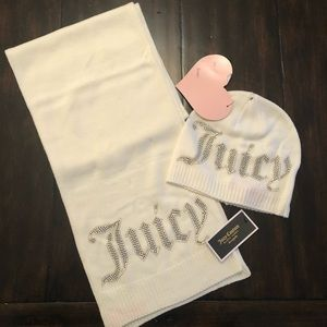 Juicy Couture Hat & Scarf - Cream